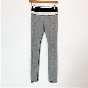 Lululemon grey and black herringbone leggings